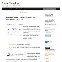 Après Facebook, Twitter, Linkedin : LE nouveau réseau social