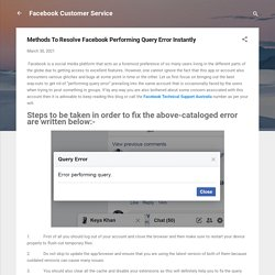 Methods To Resolve Facebook Performing Query Error Instantly