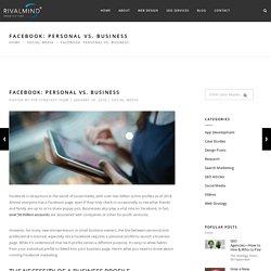 Facebook: Personal vs. Business