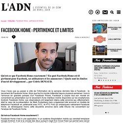Facebook Home : pertinence et limites - TRIBUNE