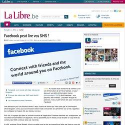 Facebook peut lire vos SMS !