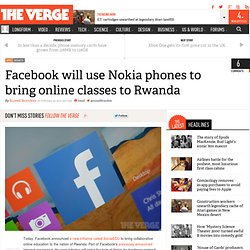 Facebook will use Nokia phones to bring online classes to Rwanda