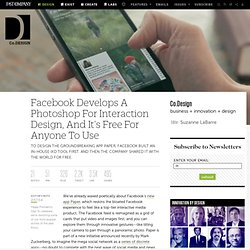 Facebook Develops A Photoshop For Interaction Design, And It's Free For Anyone To Use