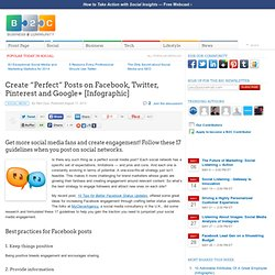 """Create """"Perfect"""" Posts on Facebook, Twitter, Pinterest and Google+ [Infographic]"""