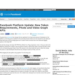 Facebook Platform Update: New Token Requirements, Photo and Video Graph APIs