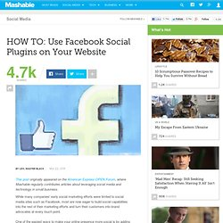 HOW TO: Use Facebook Social Plugins on Your Website
