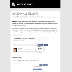 Facebook Plus est arrivé
