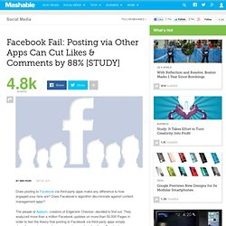 Facebook Fail: Posting via Other Apps Can Cut Likes & Comments by 88% [STUDY]
