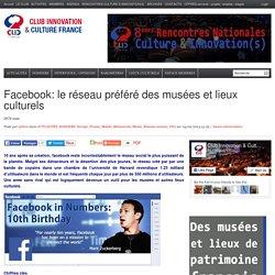 Facebook: le réseau préféré des musées et lieux culturels