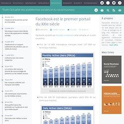 Facebook est le premier portail du XXIe siècle - MediasSociaux.fr
