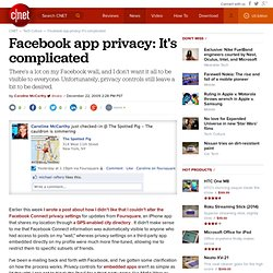 Facebook app privacy: It's complicated