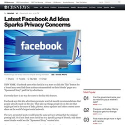 Latest Facebook Ad Idea Sparks Privacy Concerns