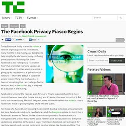 Facebook Privacy Fiasco Begins