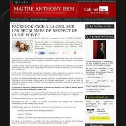 Facebook face a la cnil sur les problemes de respect de la vie privee