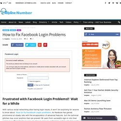 How to Fix Facebook Login Problems - Helpline - Number