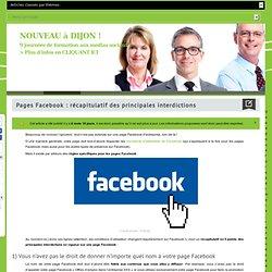 Ce que vous n'avez pas le droit de faire sur votre page Facebook