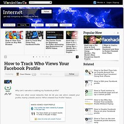 How to Track Who Views Your Facebook Profile