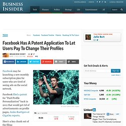 Facebook Patent For Paid Profiles