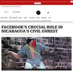 Facebook and street protests in Nicaragua.