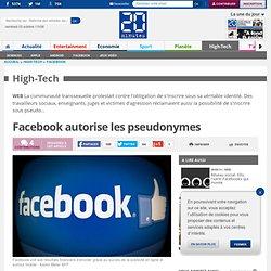 Facebook autorise les pseudonymes