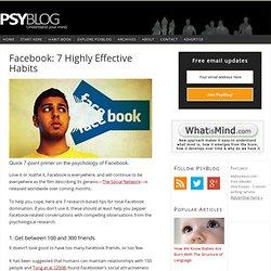 facebook psychology