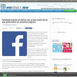 Facebook explica el motivo por el que nadie lee lo que publicamos en nuestras páginas