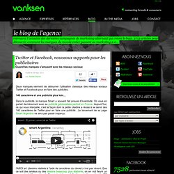 Twitter et Facebook, nouveaux supports pour les publicitaires