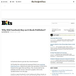 Why Did Facebook Buy an e-Book Publisher?