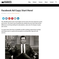 Facebook Ad Copy: Start Here! – Self Publishing Formula