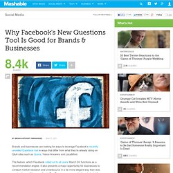 Why Facebook's New Questions Tool Is Good for Brands & Businesses