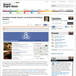 Facebook Graph Search: Local Search Ranking Factors