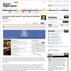 Facebook Graph Search: Local Search Ranking Factors