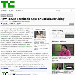 How To Use Facebook Ads For Social Recruiting