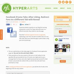Facebook Fan Page Tabs: Redirect Users to Different Tab after Liking