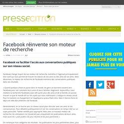 Facebook réinvente son moteur de recherche