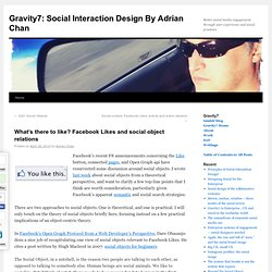 Social Interaction Design by Adrian Chan: What's there to like?