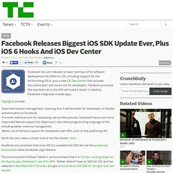 Facebook Releases Biggest iOS SDK Update Ever, Plus iOS 6 Hooks And iOS Dev Center
