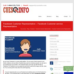 Facebook Customer Representative – Facebook Representative Service