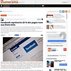 Facebook représente 25 % des pages vues aux États-Unis - Numeram