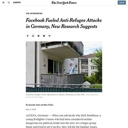 Facebook Fueled Anti-Refugee Attacks in Germany, New Research Suggests