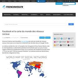 Facebook et la carte du monde des réseaux sociaux
