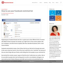 How to use your Facebook restricted list