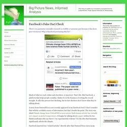 Facebook's False Fact Check