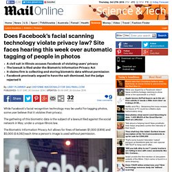 Does Facebook's facial scanning technology violate privacy law?