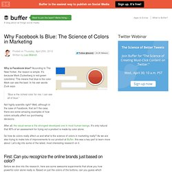 Why Facebook is blue: The science of colors in marketing