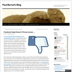 Facebook Graph Search: Privacy issues….
