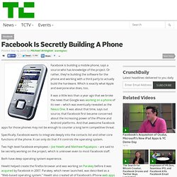 Facebook Is Secretly Building A Phone
