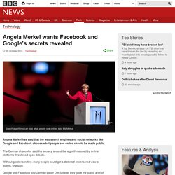 Angela Merkel wants Facebook and Google's secrets revealed