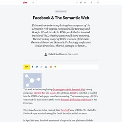 Facebook & The Semantic Web