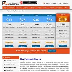 Buy Facebook Shares - 100% Active, Organic, Safe & Cheap rate